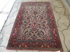 5x7ft. Antique Persian Tabriz Wool Rug