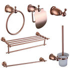 ROLYA Luxurious Rose Golden Bath Hardware Set Bathroom Accessory Sets For Toilet