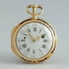Jean Romilly a Paris 1760 rococo enamel verge fusee pocket watch with ¼ repeater