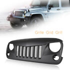 Front Eagle Eye Grill Grille with Mesh Fit Jeep Wrangler Rubicon Sahara JK 07 17