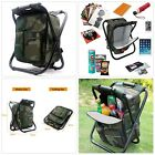 Camping Backpack Stool Compact Portable Travel Seat Bag indoor Outdoor Chair New