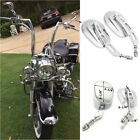 Chrome Edge Cut Rearview Mirrors For Motorcycle Harley Touring Road King FLHR US