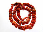 1000 Years Old Genuine Antique Gemstone Red Coral Necklace / Beads Jeaelry