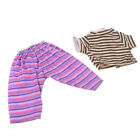 Doll Striped Clothes Brown Tops Purple Pants for 18inch Ameircan Girl Dolls