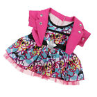 Doll Clothes False Two-Piece Pink Flower Skirt for 18inch Ameircan Girl Doll