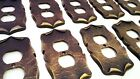AMEROCK CARRIAGE HOUSE OUTLET COVER LOT 10pc SET ANTIQUE ENGLISH BRASS EXCELLENT
