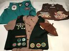 Lot Of Girl Scout Brownie Patches Merit Badges Uniforms Hat Beanie 1970-90s