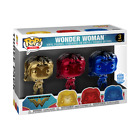 Funko POP Heroes Chrome Wonder Woman 3-Pack Funko Shop Exclusive NEW Limited