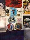 VINTAGE NASA book mouse pad pins patchs postcard and 2 coin