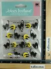 Jolees ARCHING BLACK CATS Boutique Stickers BLACK CATS AND MOON HALLOWEEN NEW