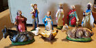 VINTAGE 11 Manger Nativity Figures Set ITALY Hand Painted EUC + Extras