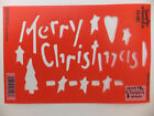 Christmas Stencil Set Holiday Snow Under The Tree Decorations Merry U Pick