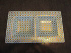 Retro Mid Century Modern Art Glass Gold Gilt Snack Tray Platter Georges Briard!