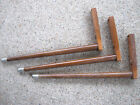 LOT OF 3 VINTAGE WOODEN TAPERED TABLE LEGS PENCIL MCM ROUND STACKING PLANT STAND