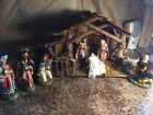Stunning Vintage Nativity Scene with Figurines Made in Italy