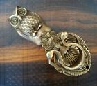 Antique Brown Finish Majestic Owl Head Solid Brass Door Knocker DoorKnocker
