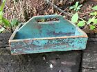 Great Early Tote/ Cuttlery Box Original Robins Egg Blue Paint