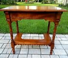 Vintage Eastlake Victorian library table with cut out mahogany antique