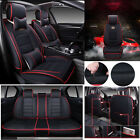 PU leather Car Seat Cover Universal Front Rear Deluxe Cushion Full Set Protector