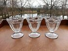 Ice Cream Dishes Anchor Hocking Tulip Dessert Sundae Dish Clear Lot of 3