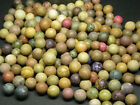 Antique 19th c. Clay Marbles, 200 Unglazed, Assorted Colors and Sizes, AAFA NR