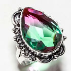 BI-COLOR TOURMALINE GEMSTONE 925 SILVER JEWRLRY RING 5.75