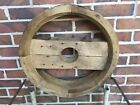 """ Pulley Belt Wheel - Primitive Farm Industrial"