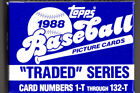 1988 Topps Baseball Card Traded Set Factory Set 132 Cards Update