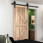 Double Door Heavy Duty 13Ft Sliding Barn Door Hardware Rail Track Kit System New