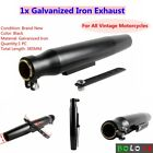 Universal Short Megaphone Exhaust Silencer For Cafe Racer Custom Motorcycle