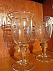 Vintage Glasses Speckled Water Goblets Footed Tumblers