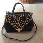 dune animal Print And Black Hand Bag