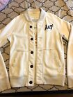 Mens Abercrombie & Fitch Distressed Muscle Fit buttos Sweats Vintage Jacket S AF