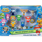 BNIB Super Wings Airport Crew Collector Pack (15 Figures) Transform A Bots Toys