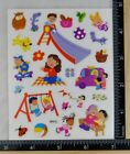 SUMMER FUN Stickers PLAYGROUND PLAY DATE FRIENDS CLEAR BACK