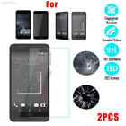 58D7 2Pcs9H+PremiumTemperedGlassFilmScreen Protector Cover For HTC Cell Phone