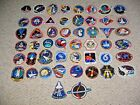 50 Different NASA SPACE SHUTTLE Mission Crew Astronaut Stickers Dealers Lot