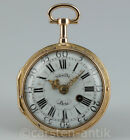 Exquisite verge fusee pocket watch with ¼ Repeater à toc et à tact in 20K Gold