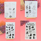 Halloween Clear Silicone Rubber Stamp Cling DIY Diary Scrapbooking Card Crafts