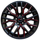 4 Wheels 18 inch Matte Black Red FLARE Rims fits SUBARU B9 TRIBECA 2006 2007