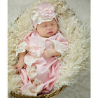 Exclusive NEW Haute Baby Boutique Newborn Girls Gown Chic Petit