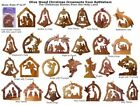 Set of 12 Olive Wood Christmas Nativity Ornaments 2 3 Made in Bethlehem