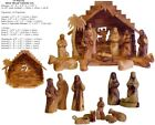 Small 13 Piece Hand Carved Olive Wood Nativity Figurines Set Made in Bethlehem