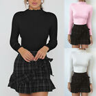 Autumn Women Long Sleeve Turtleneck Basic T Shirt Loose Slim Tops Casual Blouse