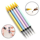 Top Dual-ended Dotting Pen Nail Art Rhinestone Picker Wax Pencil Crystal Handle