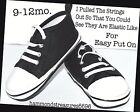 Baby Shoes Chuck Taylor Wanna Be So Cute Size 9-12mo. Easy Slip On Elastic Ties