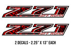 """13"""" X 2.25"""" Z71 Off Road Chevrolet GMC Truck Bed Stickers Decal Kit RED SKULLS"""