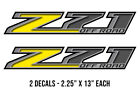 """13"""" X 2.25"""" Z71 Off Road Chevrolet GMC Truck Bed Stickers Decal Kit YELLOW"""