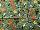 Halloween Fabric Cats And Bats Free Shipping