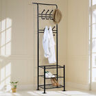 Metal Hat and Coat Bags Clothes Cloth Shoe Rack Stand Shelf Garment Hanger Hooks